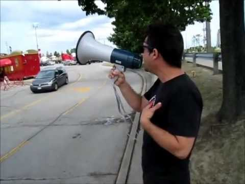 Breaking News! Shrine Circus Protest and Abuse - Woodbine Centre, Toronto, Canada - July 8, 2012