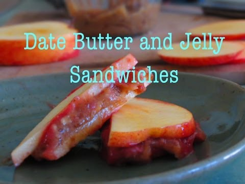 Date Butter and Jelly Sandwiches Fully RAW!
