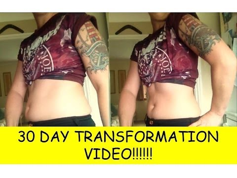 30 DAY BODY TRANSFORMATION BEFORE AND AFTER!!