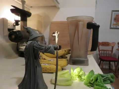Wizard makes smoothie
