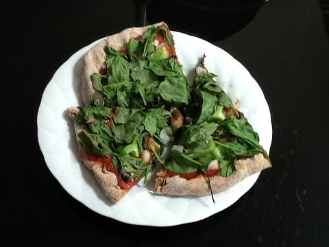 How To Make A Super Healthy Thin Crust Pizza (no oil,yeast,or excess salt)