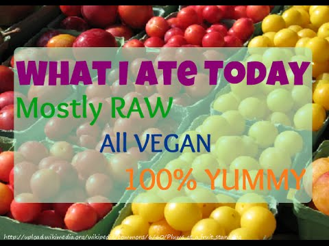 What I Ate Today - High Raw, Vegan, Yummy!