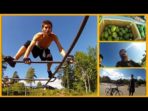 A DAY IN OUR AWESOME LIFE - CALISTHENICS, SMOOTHIES AND BUYING COCONUTS IN NORWAY VLOG