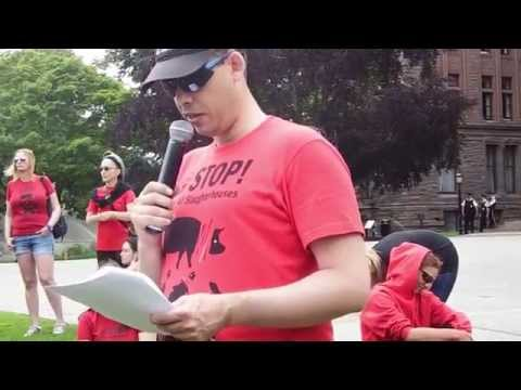 Toronto March to Close all the Slaughterhouses 2014 Speeches Harold Brown + Tim Fretwell