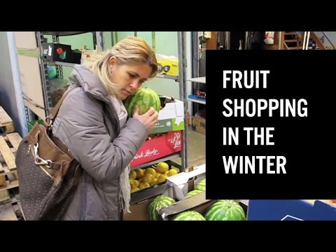 Fruit shopping in the winter time