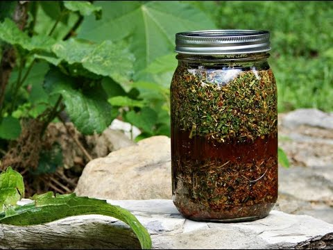 How to make your own herbal tincture.  Easy!