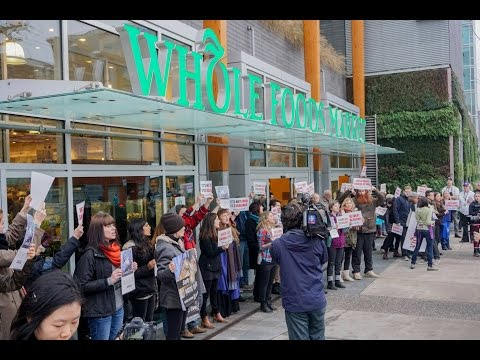 Vlog: What I ate, Whole Foods Protest