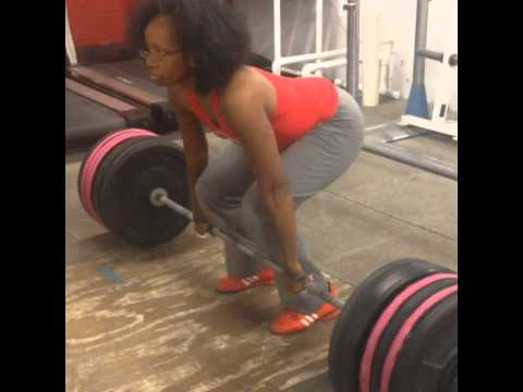 My 250lb dead lift personal record as a vegan Olympic weightlifter!