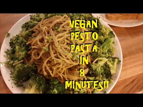 Vegan Pesto Pasta || 8 minute recipe
