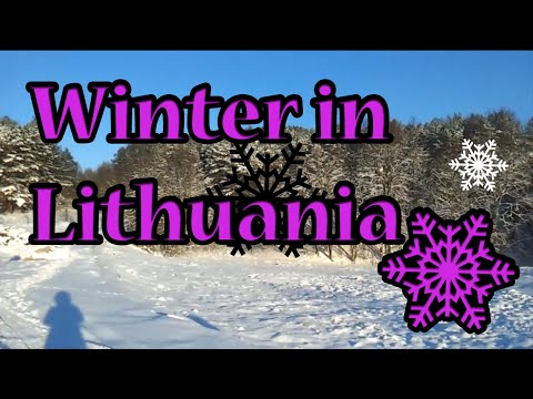 Winter in Lithuania