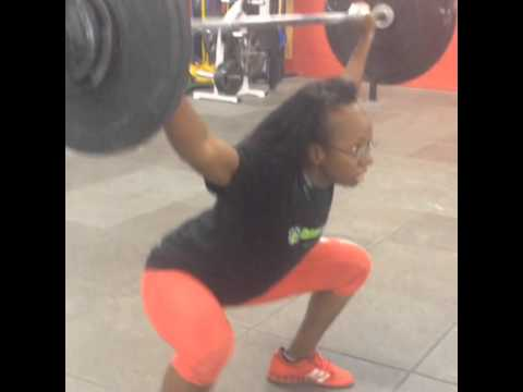 My personal record in the snatch at 47 kilos as a vegan Olympic weightlifter!