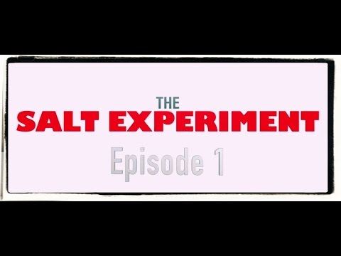 The salt experiment. My thoughts.