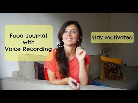 Food Journal with Voice Recording - Stay Motivated