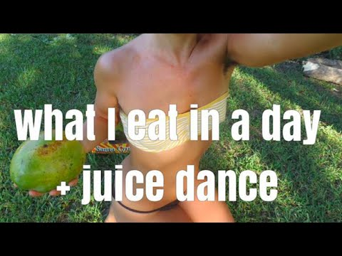 WHAT I EAT IN A DAY. RAW VEGAN + JUICE DANCE!