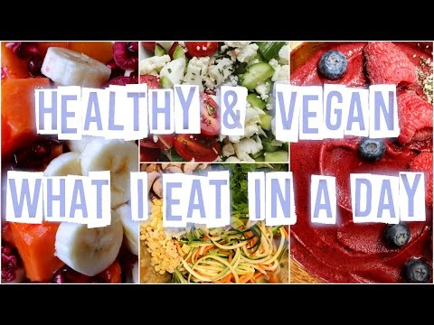 HEALTHY & VEGAN What I Eat in a Day #11 | Raw in College