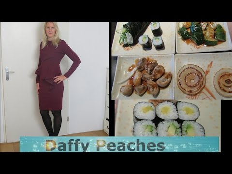 vegan sushi dinner and OOTD