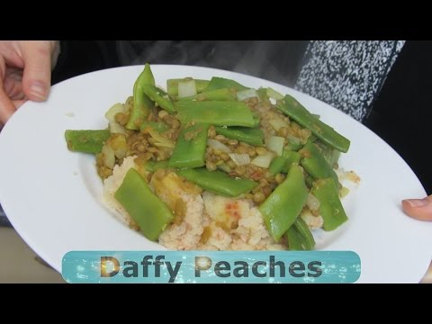 Mashed Potatos,Haricots Verts and Lentils. HCLF Vegan MADE EASY!!