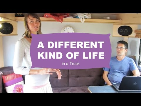 Fruitarian family lives in an autocamper in the UK and in Thailand in the winter