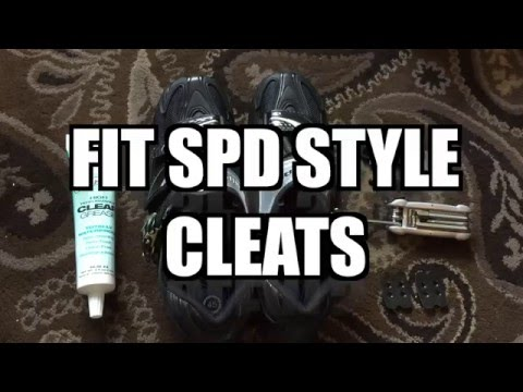 How To Fit SPD Cleats To Cycling Shoes