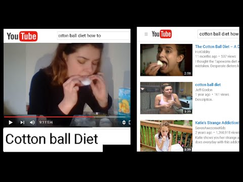 "NEW DIET:  ""The Cotton Ball Diet"" - Another crazy thing meat-eaters do to lose fat"