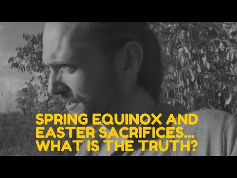 For those of you with family eating lamb this easter!! Easter sacrifices, good friday and the spring equinox, what is the truth behind it all?