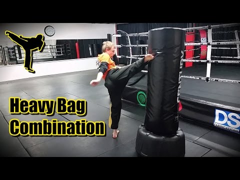 Heavy Bag Combination for Muay Thai and K1 Kickboxing