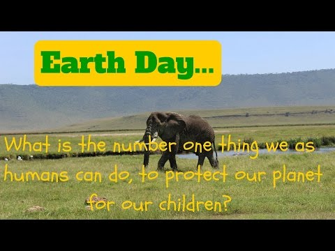 What is the number one thing we as humans can do, to protect our planet for our children?