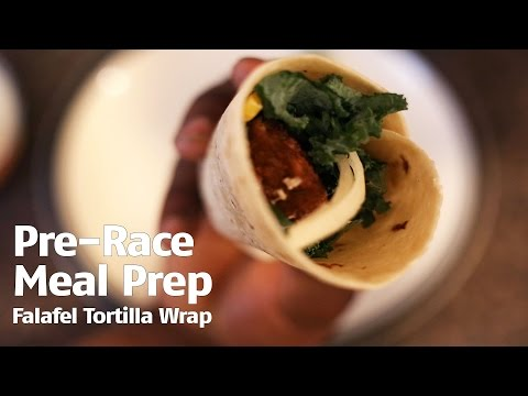 Pre-Race Meal Prep: Falafel Tortilla Wrap