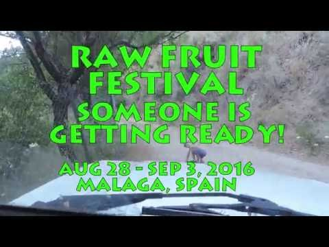 Moya getting ready for the 2016 Raw Fruit Festival