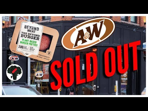 A&W Beyond Burger Canada - SOLD OUT