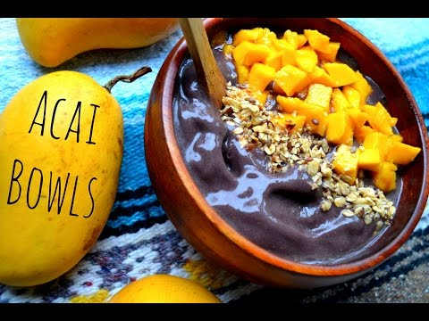 RAW VEGAN RECIPE: ACAI BOWL, VEGAN/HEALTHY/BREAKFAST/SNACK