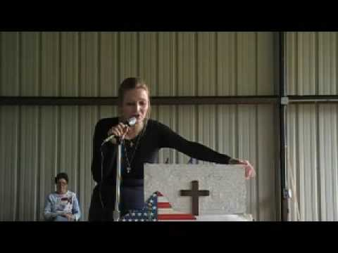 Melissa Pehle-Hill speaks at the Jefferson TX Tea Party on Sept 12th