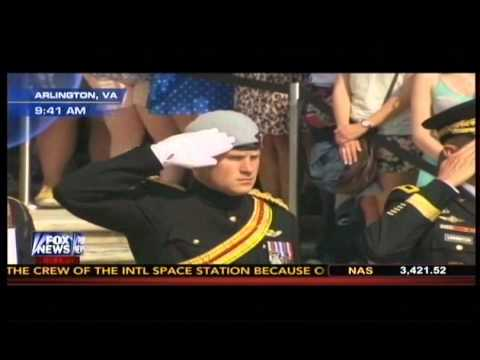 Prince Harry Honors America's War Dead at Tomb of Unknown Soldier at Arlington Cemetery