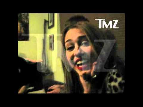 Miley Cyrus  Partying with a Bong Video TMZ.com.(HD)