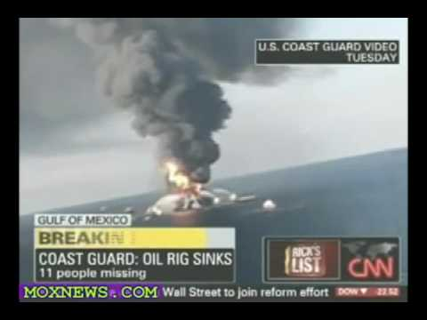 """Knowing"" movie and the Oil Rig Explosion in the Gulf of Mexico 2010.avi"