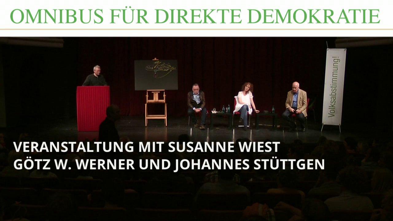 Susanne Wiest, Götz W. Werner  und Johannes Stüttgen in Greifswald