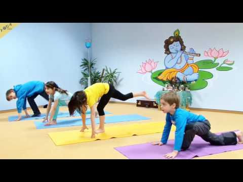 Yogastunde Kinder Sonnengruß