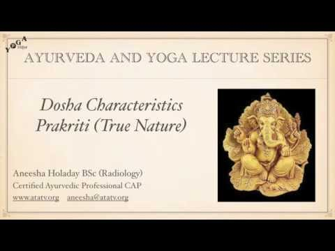 Characteristics of the Doshas (Prakriti)