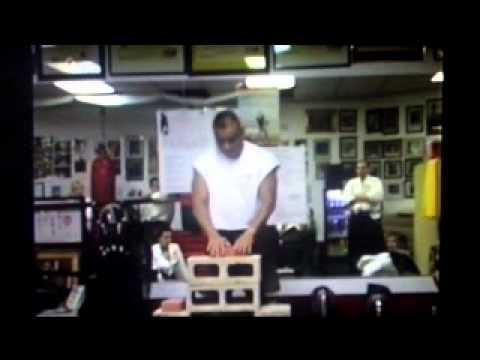 SOKE GRANDMASTER IRVING SOTO IRON PALM DEMO ON BREAKING STONE, CINDER BLOCKS AND ROCKS