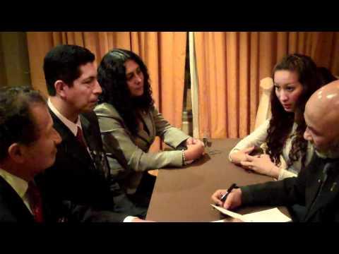 Entrevista realizada por el Sr. Fatemi Ghani a los líderes principales de DXN Perú