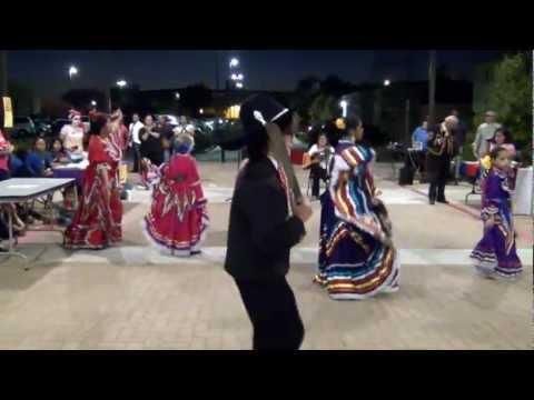 Los Machetes being danced by the MECCA Ballet Folklorico de Colores at a LULAC Dia de Muerto event.