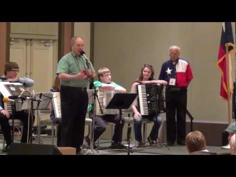 Dan Kott gets award at the National Accordion Association Convention in Dallas, Texas. 3/17/12