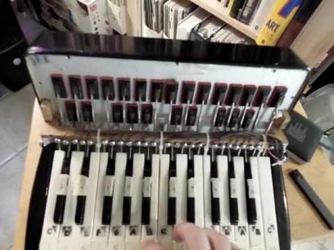 Arduino MIDI Accordion : Controlling a Digital Piano