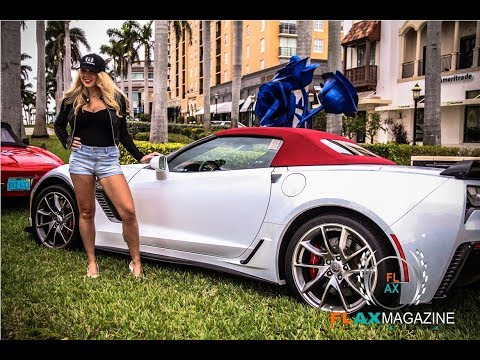 "FLAX Magazine Covers the ""Corvettes @ CityPlace"" Show in Palm Beach"