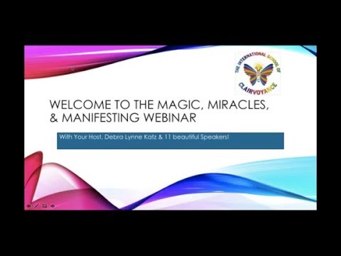 Magic, Miracles & Manifesting for 2016 Pajama Power Party Webinar!1452218786
