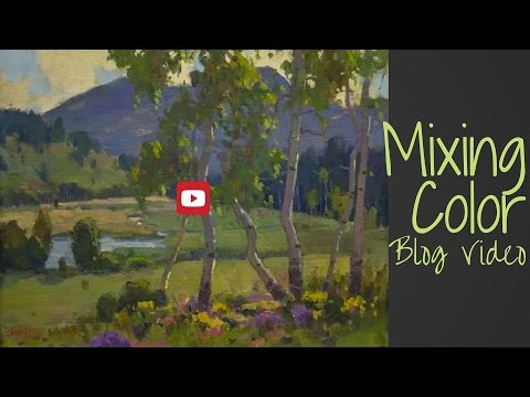 plein air painting  mixing color blog