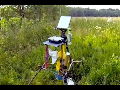 """How To Make A Painting Easel """"Bushcraft"""" Style - Acrylic Painting Tips"""