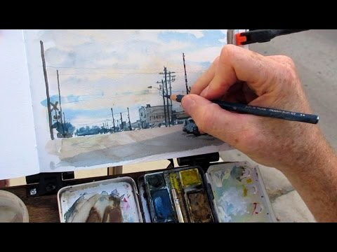 Painting a Texas Townscape in Watercolor by James Gurney