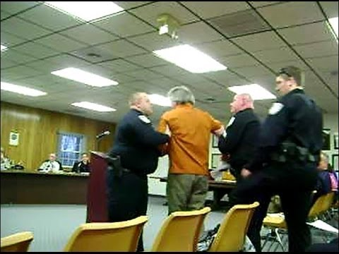 Bridgeport Township Board Meeting March 4, 2014  Citizen gets arrested for speaking out
