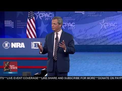 AMAZING: Nigel Farage Speaks at CPAC 2017